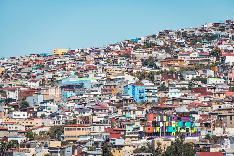 Σπίτια της άποψης Valparaiso από Cerro Concepción Hill - Valparaiso, Χιλή στοκ φωτογραφία με δικαίωμα ελεύθερης χρήσης