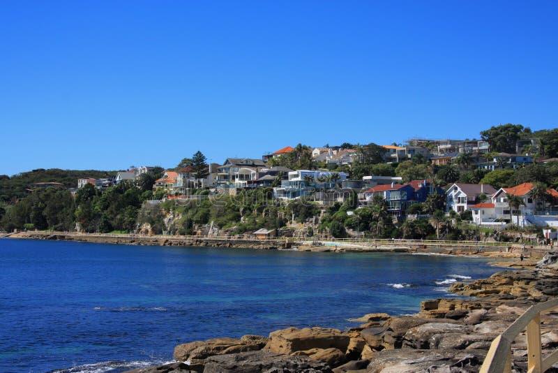 Σπίτια της ανδρικής παραλίας Αυστραλία στοκ εικόνα με δικαίωμα ελεύθερης χρήσης