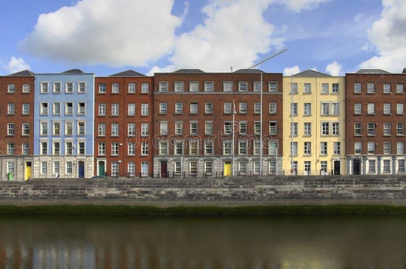 σπίτια του Δουβλίνου στοκ φωτογραφία