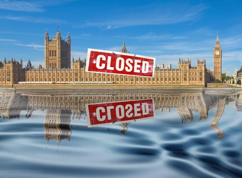 Σπίτια του Κοινοβουλίου στο Λονδίνο διανυσματική απεικόνιση