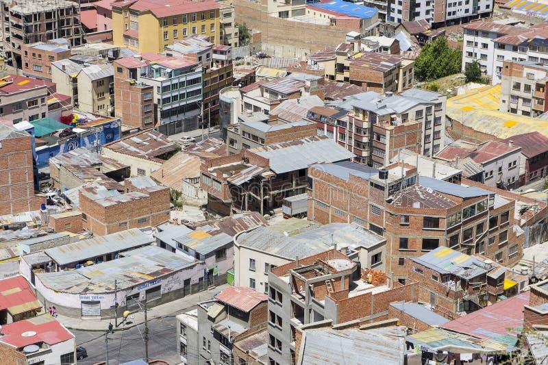 Σπίτια του Λα Παζ, Βολιβία στοκ εικόνα με δικαίωμα ελεύθερης χρήσης