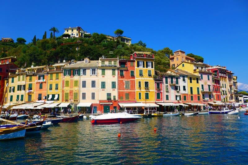 Σπίτια του portofino στοκ εικόνες