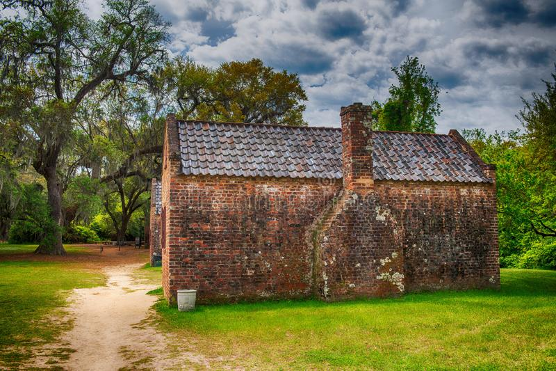 Σπίτια φυτειών αιθουσών Boone, Τσάρλεστον στοκ εικόνα με δικαίωμα ελεύθερης χρήσης