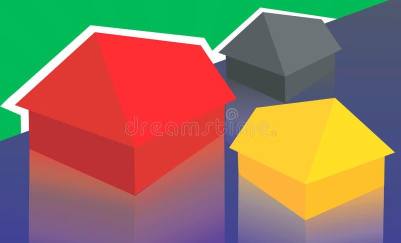 σπίτια απεικόνιση αποθεμάτων