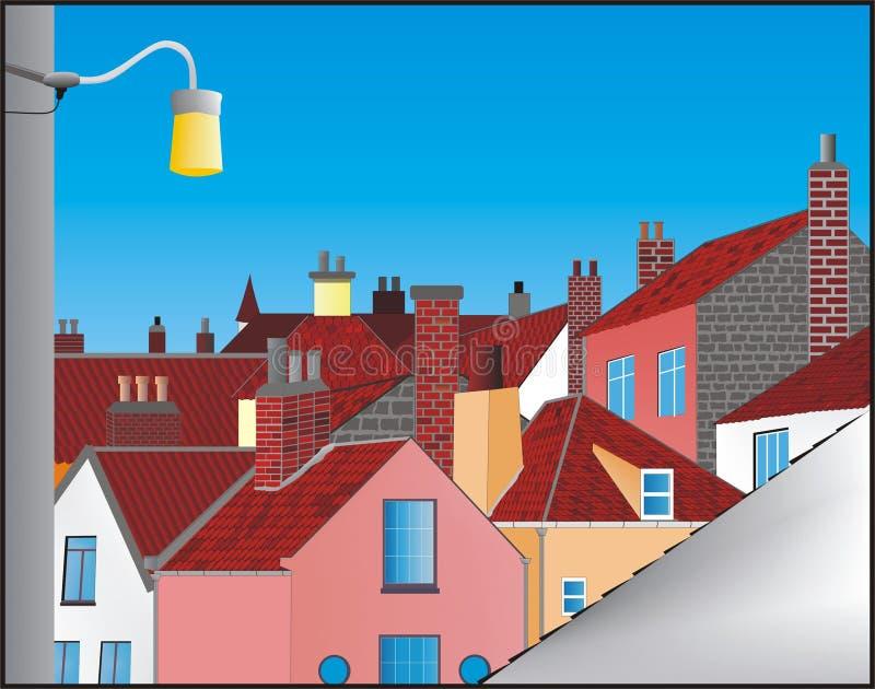 Download σπίτια απεικόνιση αποθεμάτων. εικονογραφία από παράθυρο - 525368