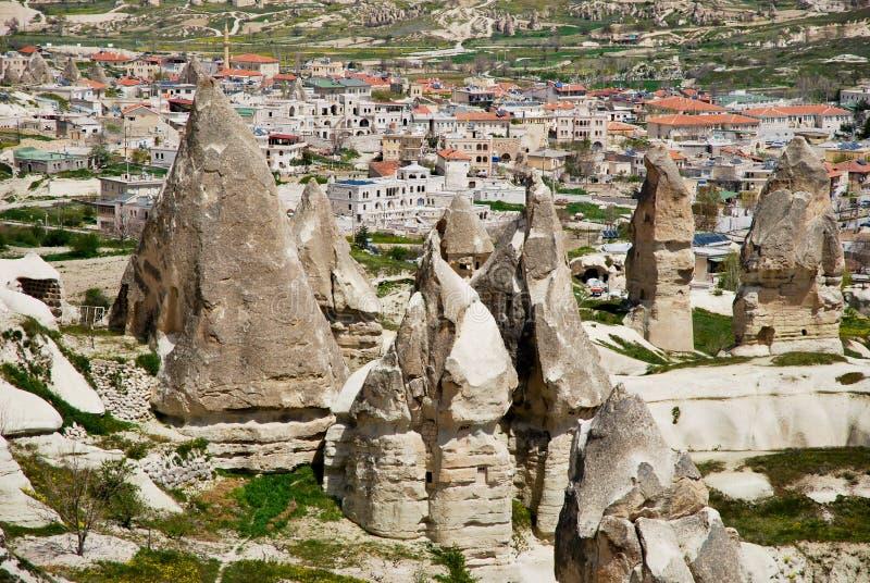 σπίτια cappadocia στοκ φωτογραφίες με δικαίωμα ελεύθερης χρήσης