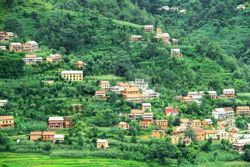 Σπίτια Nepali στοκ φωτογραφία