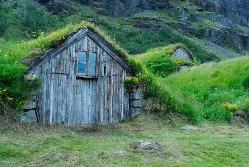 Σπίτια Nupstadur, Ισλανδία στοκ φωτογραφίες με δικαίωμα ελεύθερης χρήσης