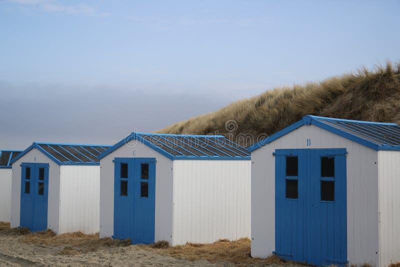 Σπίτια Texel παραλιών - 3 στοκ φωτογραφίες