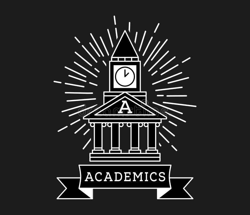 Σπίτι ακαδημαϊκών του λευκού σπουδαστών στο Μαύρο απεικόνιση αποθεμάτων