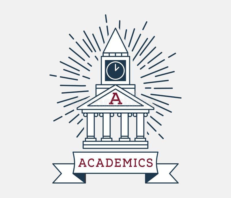 Σπίτι ακαδημαϊκών των σπουδαστών διανυσματική απεικόνιση
