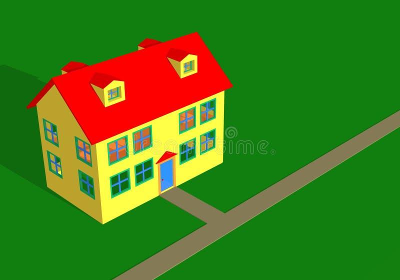 Download σπίτι ανασκόπησης απεικόνιση αποθεμάτων. εικονογραφία από πεζοδρόμιο - 98850