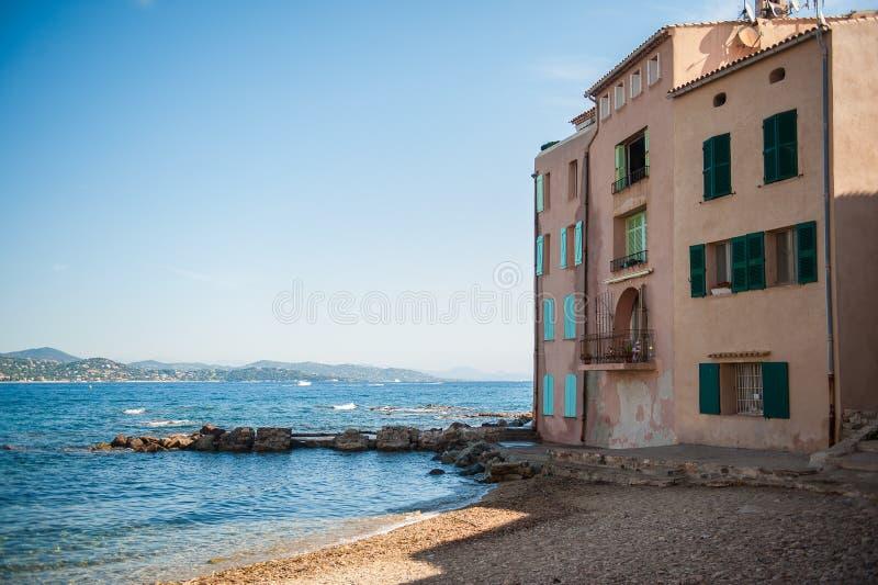 Σπίτι από την παραλία στοκ εικόνες