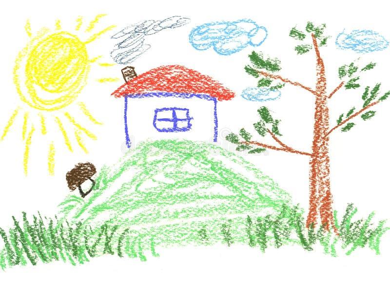 σπίτι γιαγιάδων μου απεικόνιση αποθεμάτων