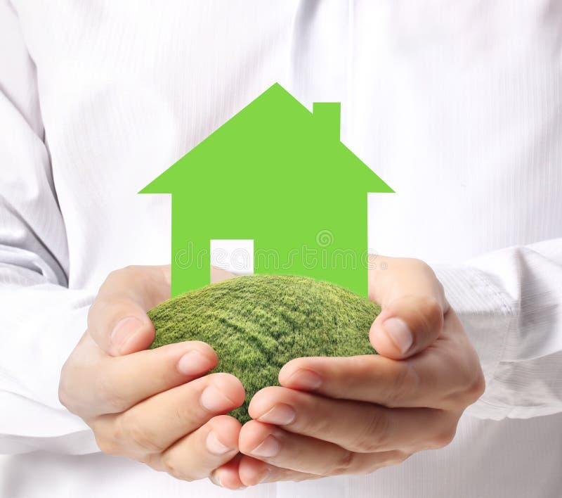 Σπίτι εκμετάλλευσης που αντιπροσωπεύει την εγχώρια ιδιοκτησία απεικόνιση αποθεμάτων