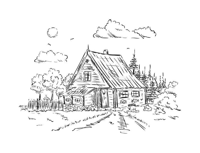 Σπίτι εξοχικών σπιτιών ελεύθερη απεικόνιση δικαιώματος