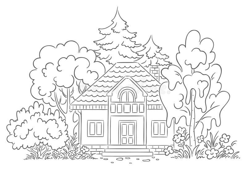 Σπίτι επαρχίας ελεύθερη απεικόνιση δικαιώματος