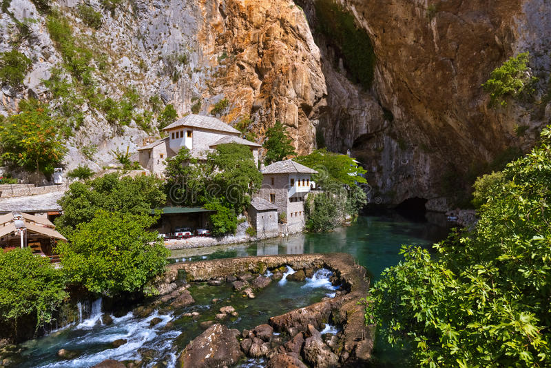 Σπίτι δερβίσηδων Blagaj - Βοσνία-Ερζεγοβίνη στοκ εικόνα