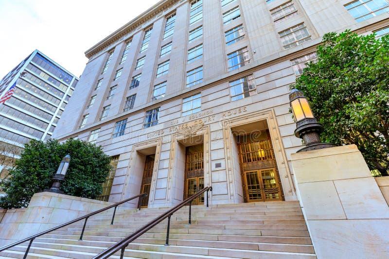 Σπίτι Ηνωμένου δικαστηρίου, το οποίο ένα ομοσπονδιακό δικαστήριο εντόπισε μέσα στοκ φωτογραφία με δικαίωμα ελεύθερης χρήσης