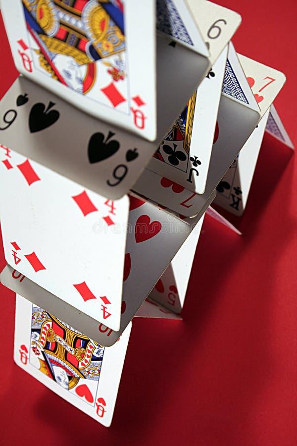 σπίτι ΙΙ καρτών πόκερ στοκ φωτογραφίες