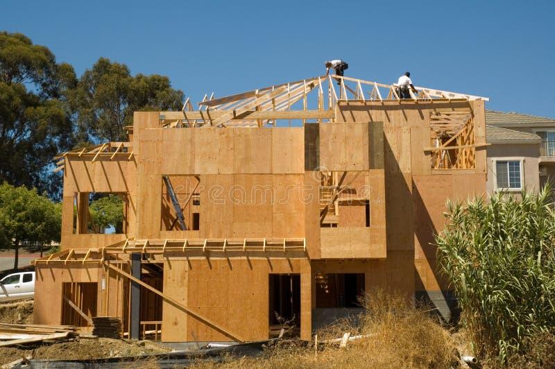 Σπίτι κάτω από την κατασκευή στοκ φωτογραφία