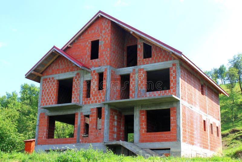 Σπίτι κάτω από την κατασκευή στοκ φωτογραφίες
