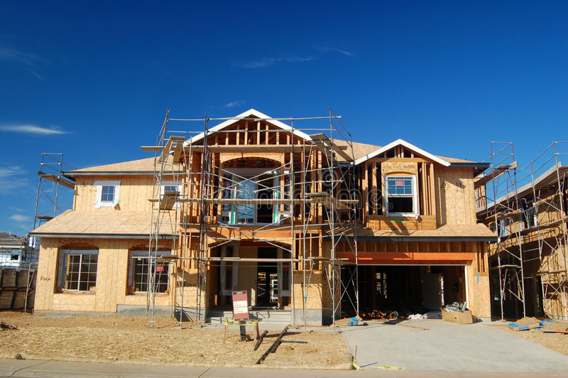 Download σπίτι κατασκευής κάτω στοκ εικόνα. εικόνα από σπίτια, ιδιοκτησία - 385221