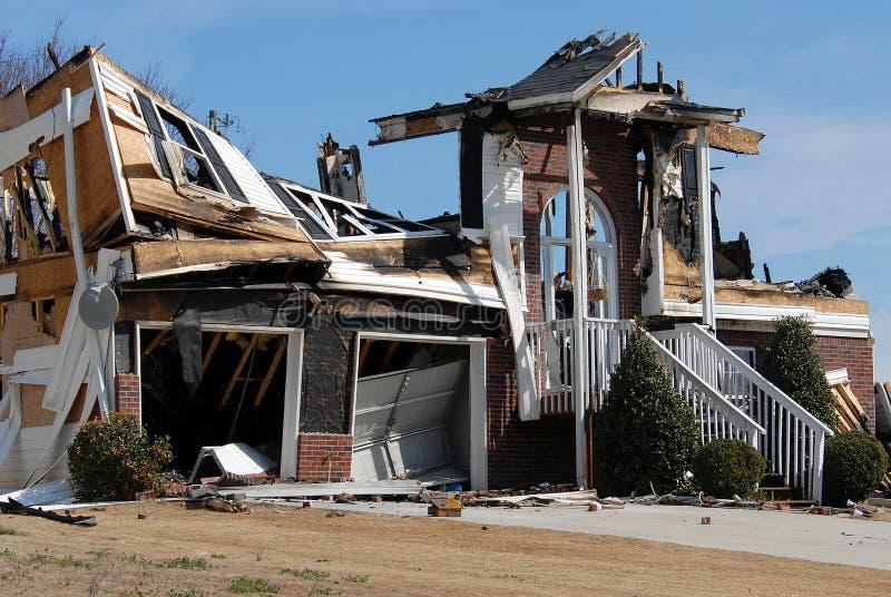 σπίτι καταστροφής στοκ φωτογραφίες με δικαίωμα ελεύθερης χρήσης