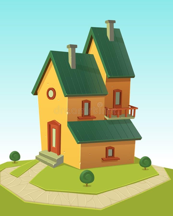 Σπίτι κινούμενων σχεδίων ελεύθερη απεικόνιση δικαιώματος