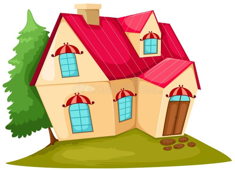 Download σπίτι κινούμενων σχεδίων διανυσματική απεικόνιση. εικονογραφία από πόρτα - 13185361