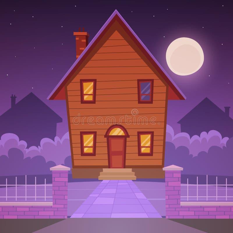 Σπίτι κινούμενων σχεδίων απεικόνιση αποθεμάτων