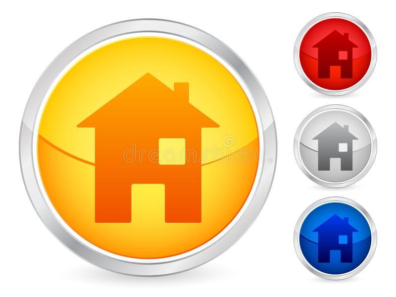 σπίτι κουμπιών διανυσματική απεικόνιση