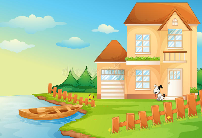Σπίτι λιμνών διανυσματική απεικόνιση
