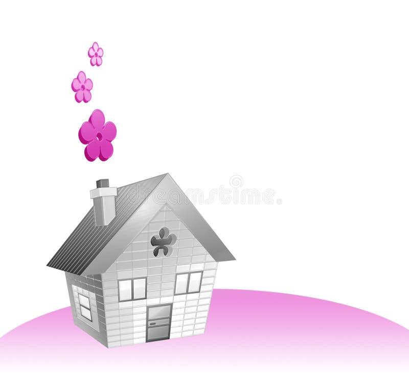 σπίτι λουλουδιών ελεύθερη απεικόνιση δικαιώματος