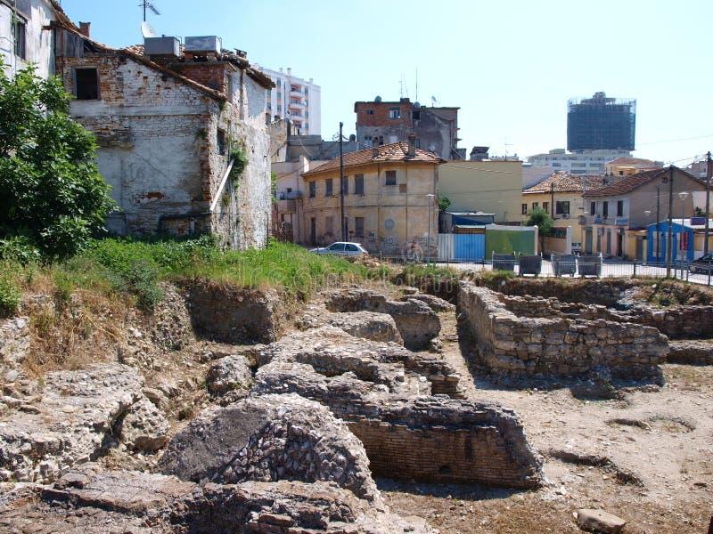 σπίτι λουτρών της Αλβανίας durres στοκ εικόνα με δικαίωμα ελεύθερης χρήσης