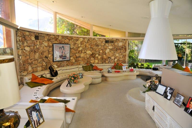 Σπίτι μήνα του μέλιτος του Elvis Presley ` s, Παλμ Σπρινγκς στοκ φωτογραφία