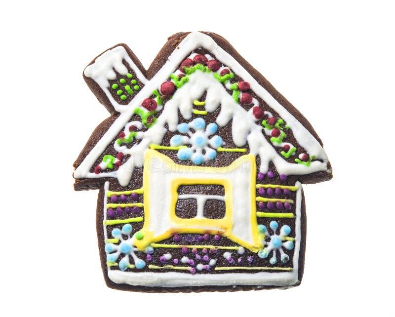 Σπίτι μελοψωμάτων που απομονώνεται σε ένα άσπρο υπόβαθρο στοκ φωτογραφία με δικαίωμα ελεύθερης χρήσης