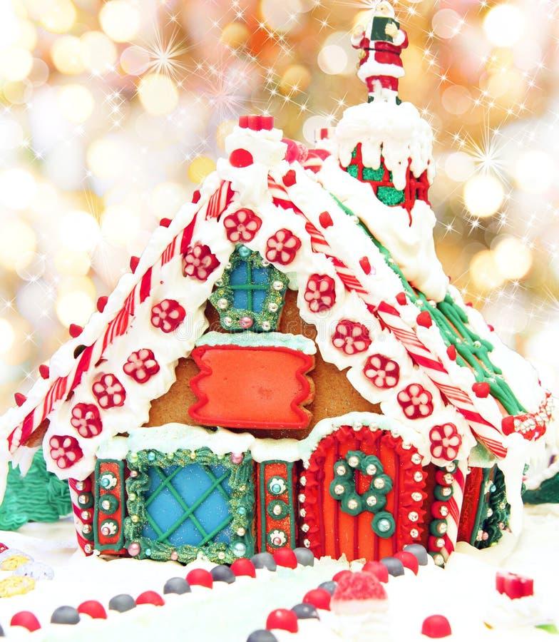 Σπίτι μελοψωμάτων Χριστουγέννων στοκ φωτογραφία