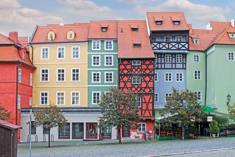 σπίτι μεσαιωνικό Τετράγωνο αγοράς σε Cheb, Τσεχία στοκ εικόνες
