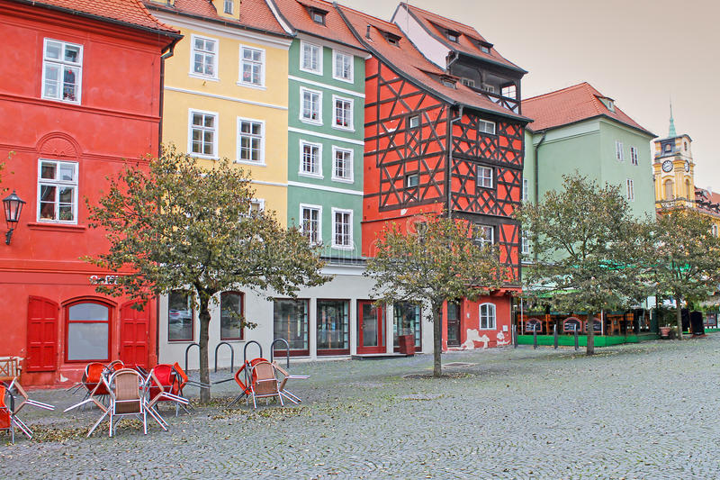 σπίτι μεσαιωνικό Τετράγωνο αγοράς σε Cheb, Τσεχία στοκ φωτογραφία