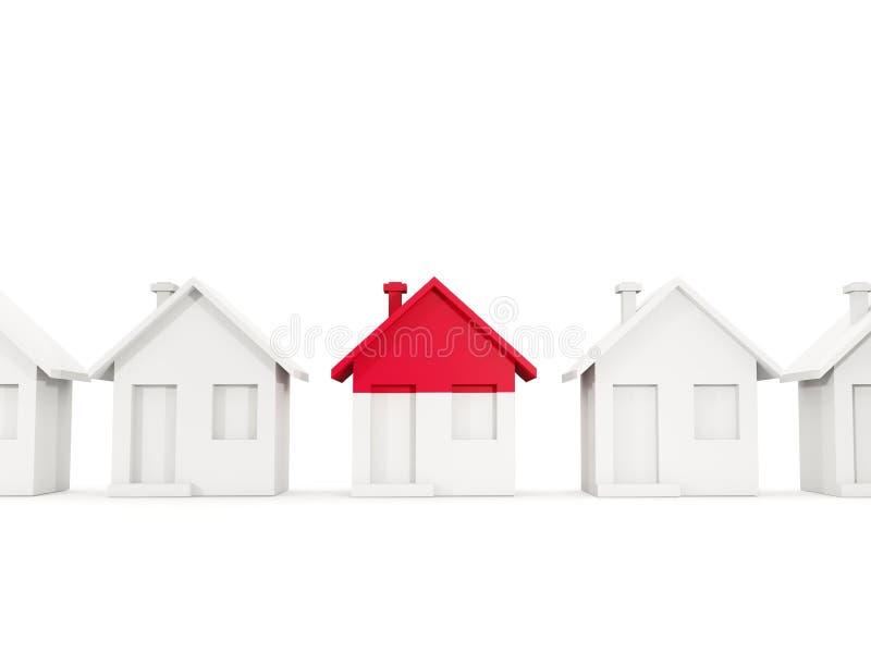Σπίτι με τη σημαία του Μονακό ελεύθερη απεικόνιση δικαιώματος