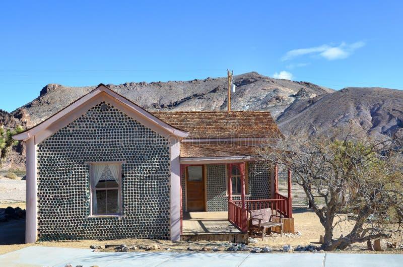 Σπίτι μπουκαλιών Rhyolite, Νεβάδα, ΗΠΑ στοκ φωτογραφία με δικαίωμα ελεύθερης χρήσης