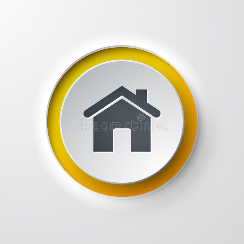 Σπίτι μπουτόν εικονιδίων Ιστού διανυσματική απεικόνιση