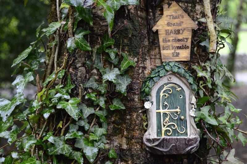 Σπίτι νεράιδων στο δέντρο στοκ φωτογραφία με δικαίωμα ελεύθερης χρήσης