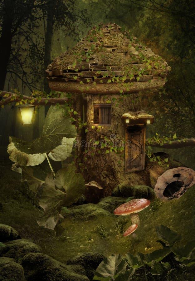 σπίτι νεράιδων διανυσματική απεικόνιση
