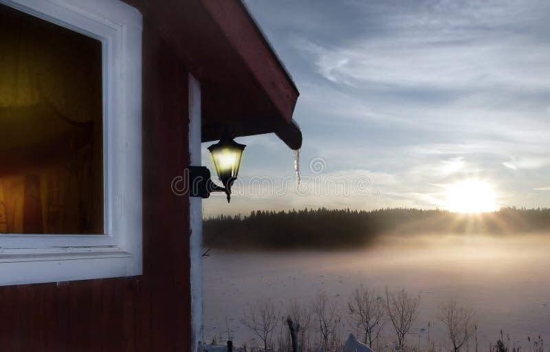 σπίτι ξύλινο στοκ εικόνες