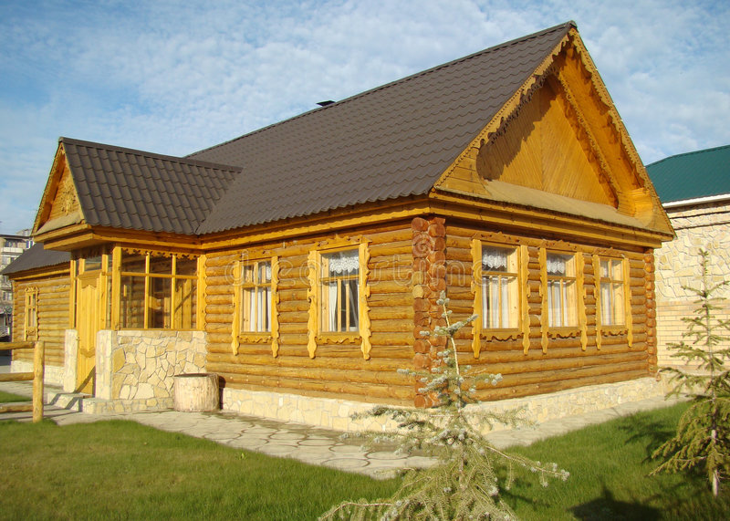 σπίτι ξύλινο στοκ εικόνες με δικαίωμα ελεύθερης χρήσης