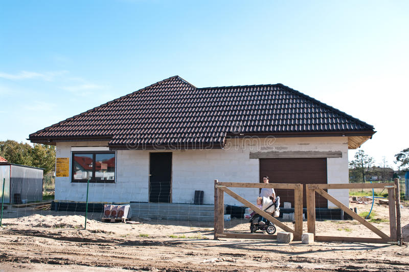 σπίτι οικοδόμησης ιδιωτι στοκ εικόνες με δικαίωμα ελεύθερης χρήσης