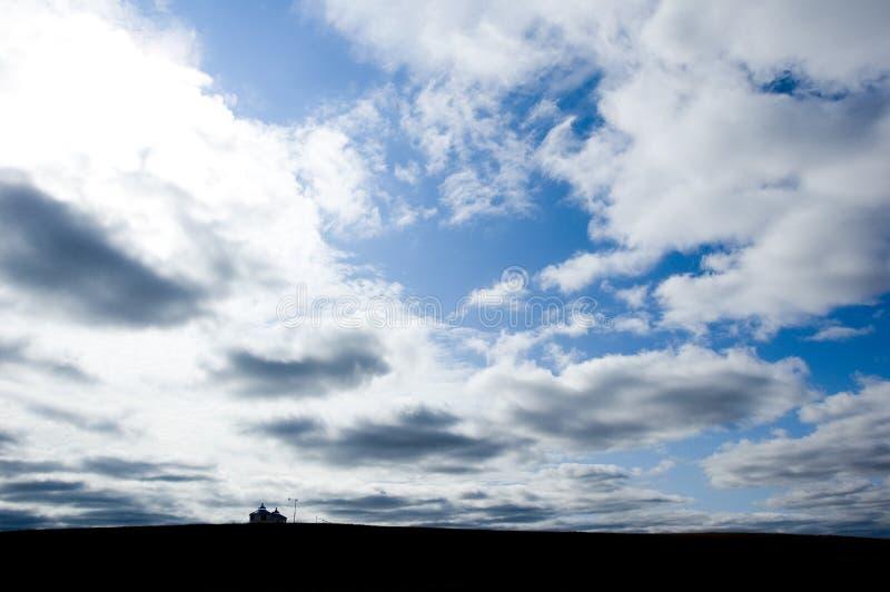 σπίτι ο ουρανός μου στοκ εικόνα με δικαίωμα ελεύθερης χρήσης