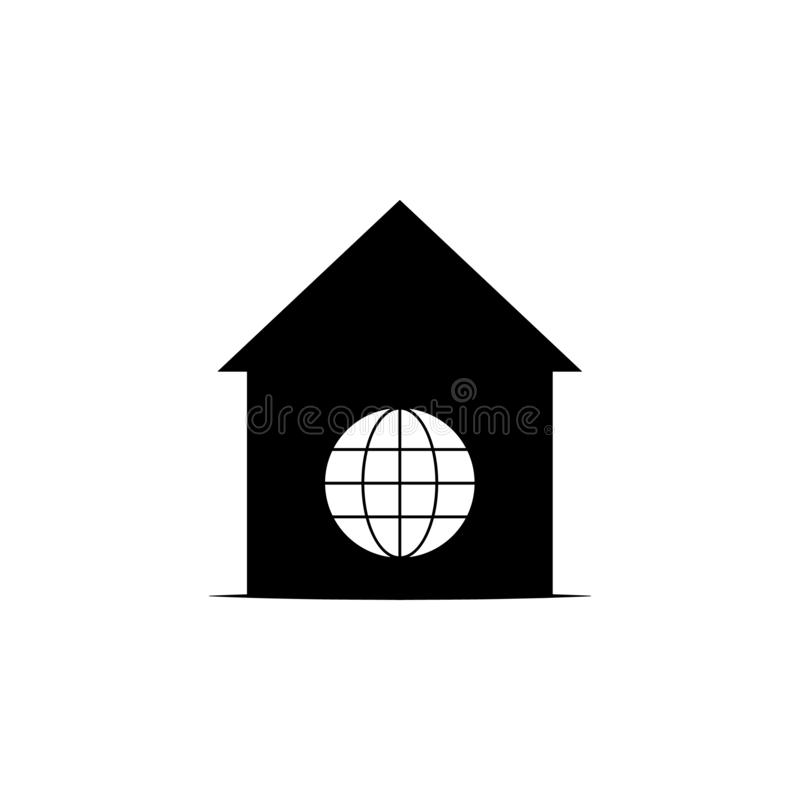 Σπίτι, παγκόσμιο εικονίδιο στο άσπρο υπόβαθρο Μπορέστε να χρησιμοποιηθείτε για τον Ιστό, λογότυπο, κινητό app, UI UX απεικόνιση αποθεμάτων